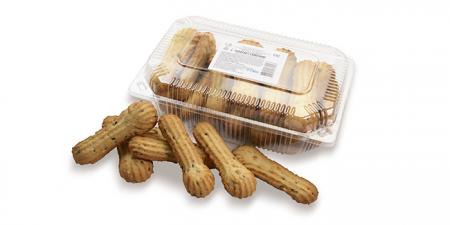 Печенье сдобное Полоски с семенами 300 г