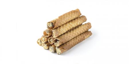 Вафельная трубочка с шоколадно-ореховой начинкой 10 шт. по 50г