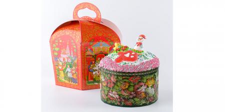 Кулич пасхальный Праздничный в коробке 0,6 кг